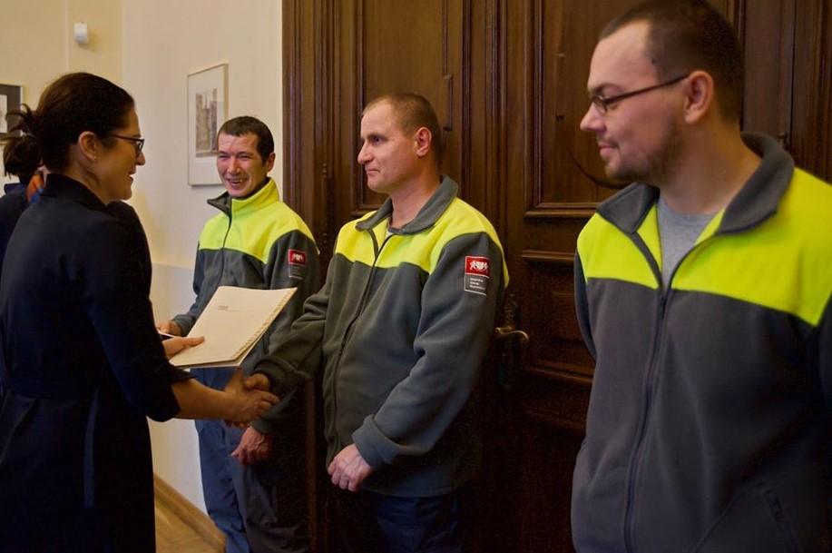Bohaterska postawa pracowników GUK wyróżniona przez prezydent Aleksandrę Dulkiewicz
