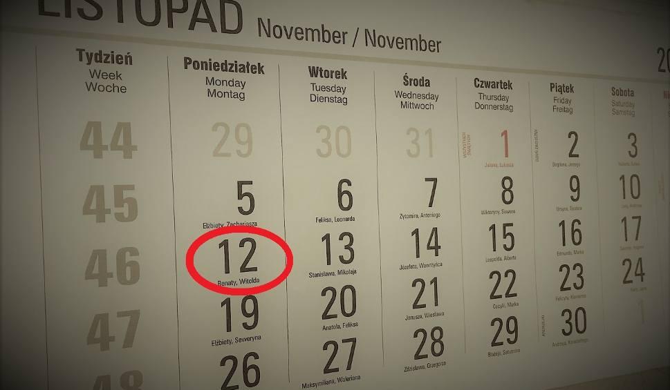 UWAGA! Zmiana harmonogramu 12-16 listopada 2018